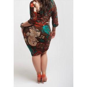Qristyl Frazier Designs Dresses - Plus Size Fall Color Dress